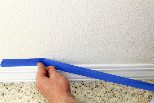 Painter's Tape On Baseboard