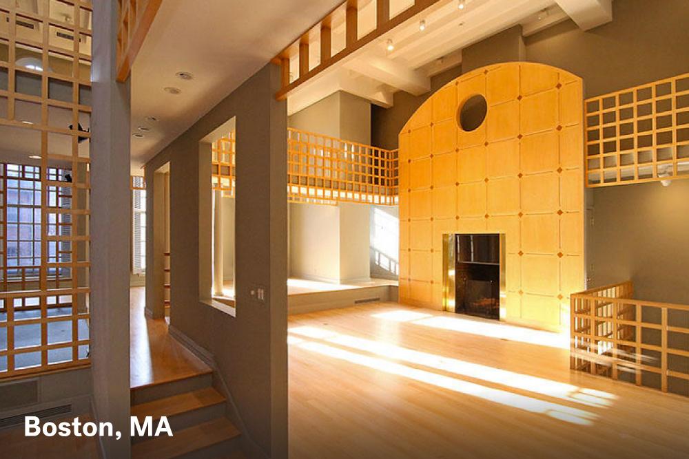 Fireplace designs Boston