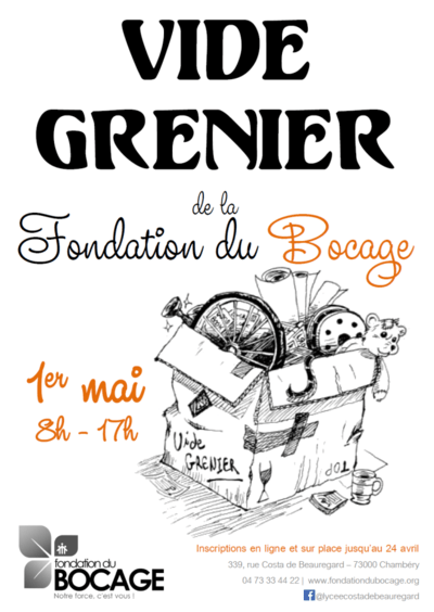 Vide Grenier de la Fondation du Bocage 1er mai 2019