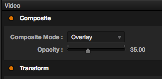 Track Opacity Composite more level in Resolve