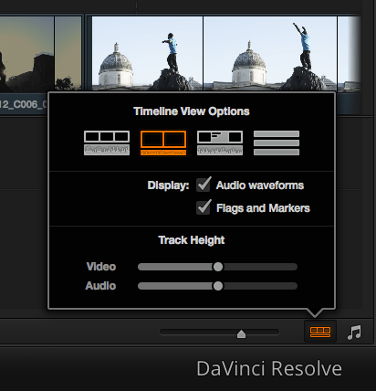 Turn off thumbnails in Resolve