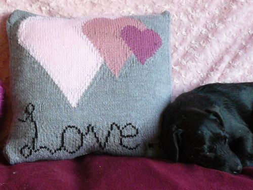 free cat cushion cover to knit # 65