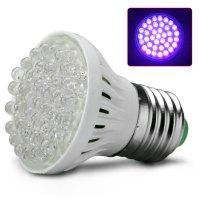 Ultra Bright E27 UV Ultraviolet Color Purple Light 38LED