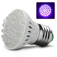 Ultra Bright E27 UV Ultraviolet Color Purple Light 38LED ...