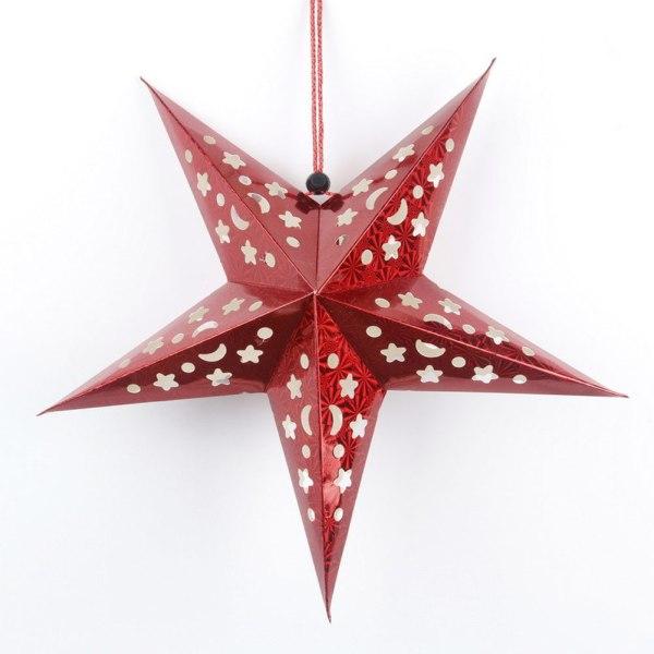 Paper Star Hanging Lantern Light