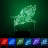 3D Colorful Gradient Atmosphere LED Nightlight USB Touch ...