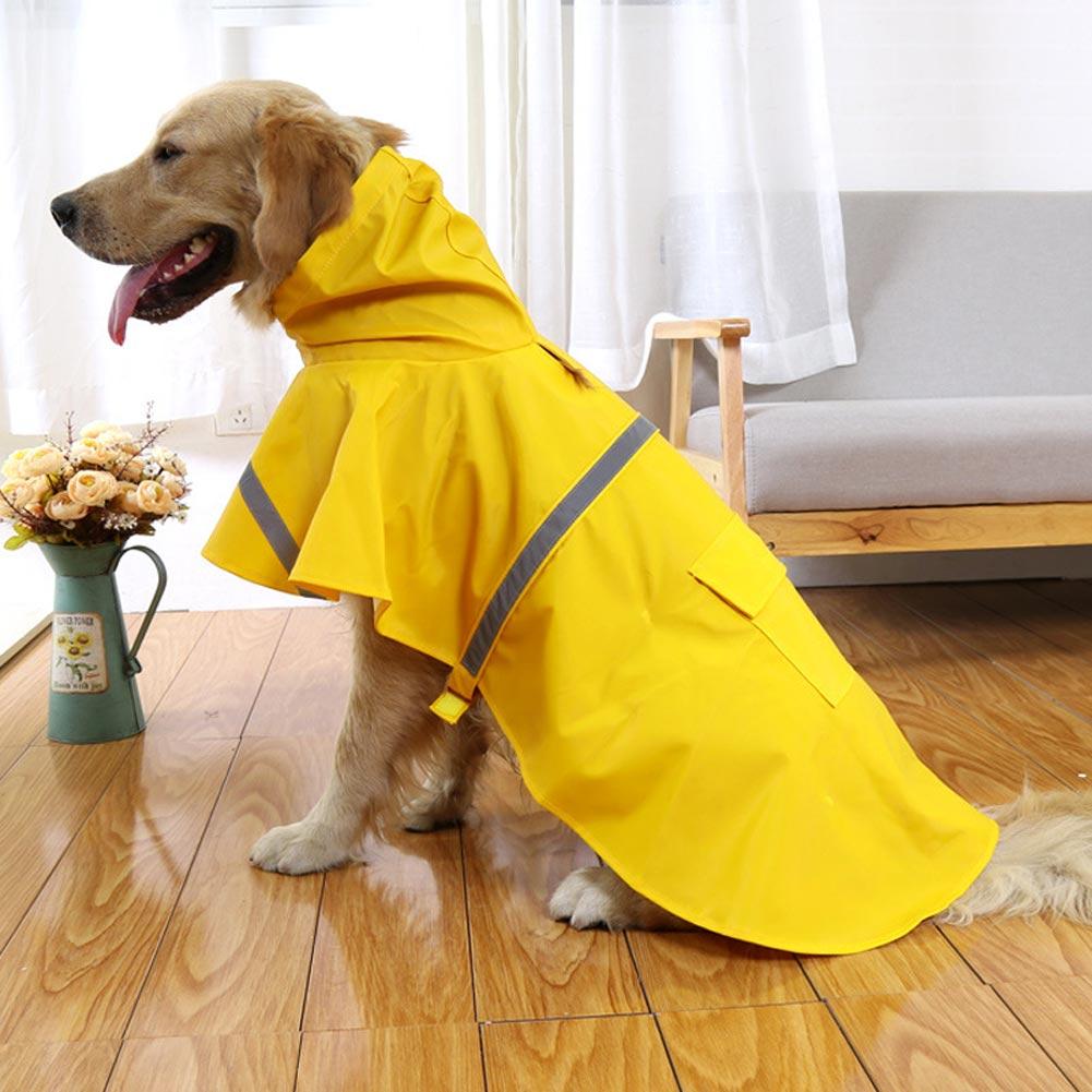 Dog Rain Coat Pet Jacket Puppy Outdoor Clothes Waterproof
