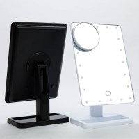20 LED Touch Screen Makeup Mirror Tabletop Lighted ...