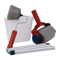 6Pcs Pro Paint Brush Handle Roller Flocked Edger Room Wall