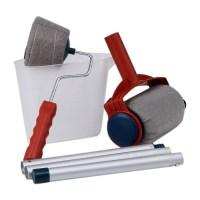 6Pcs Pro Paint Brush Handle Roller Flocked Edger Room Wall ...