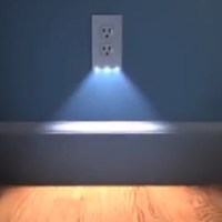 2in1 Duplex Bathroom Night Light Sensor LED Plug Cover ...
