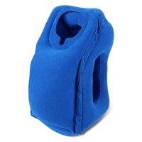 Inflatable Air Travel Pillow Airplane Neck Head Chin ...