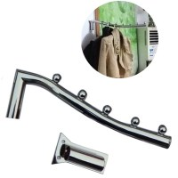 Stainless Steel Wall Mount Clothes Hanger Rack Hook W ...