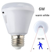 E27 6W LED PIR Motion Sensor Detector Infrared Nightlight