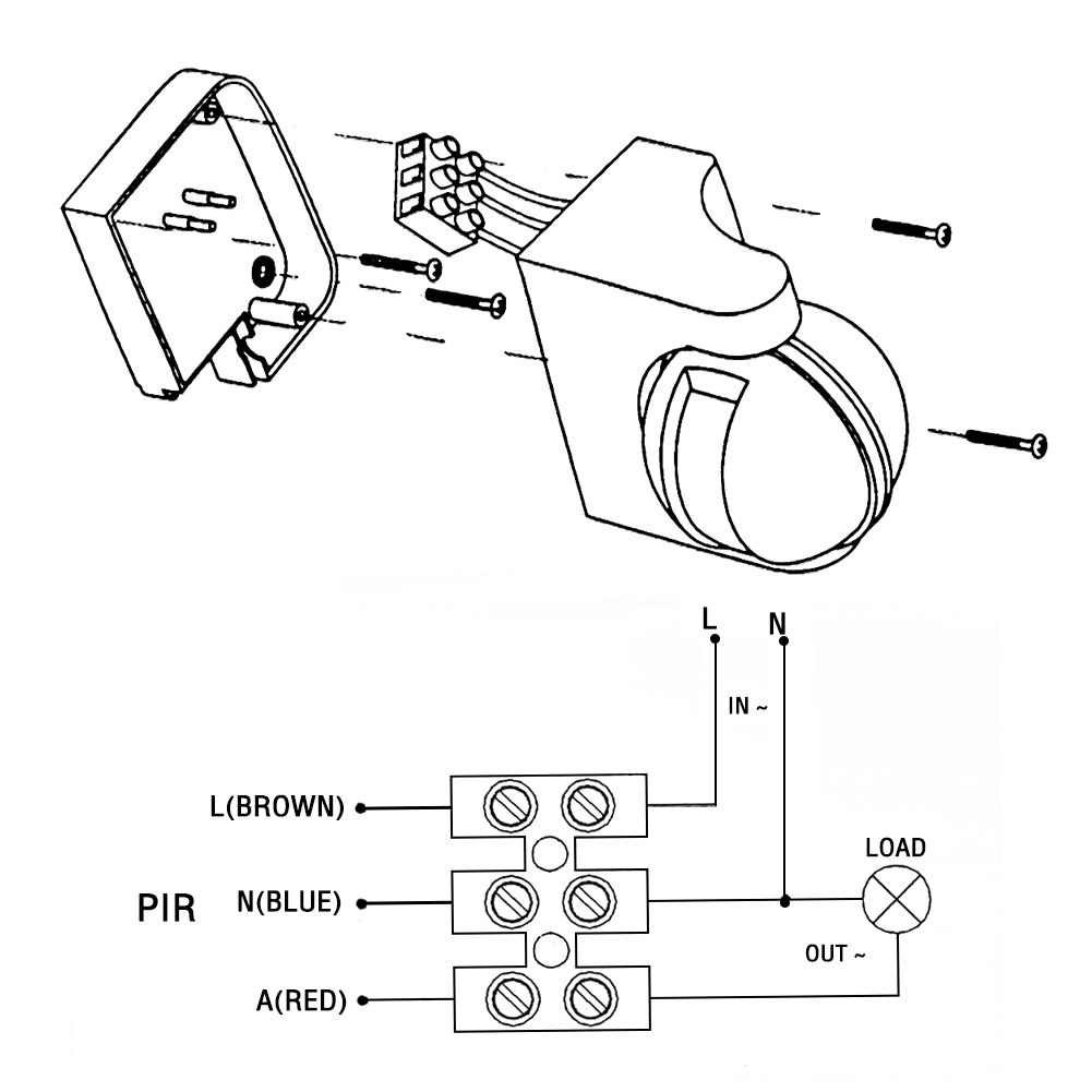 180° LED Outdoor 110-220V Infrared PIR Motion Sensor