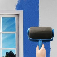 Paint Roller Pro Edger Brush Handle Room Wall Painting ...