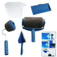 5PCS/Set Pro Paint Roller Brush Handle Flocked Edger Wall