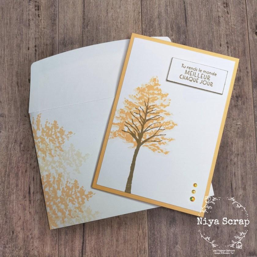 Niya Scrap - Carte arbre swap - matériel Stampin' Up!