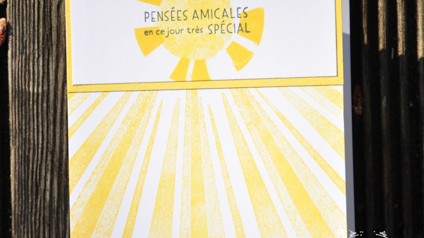Niya Scrap - Carte Soleil - #SimpleStamping - Matériel Stampin' Up!
