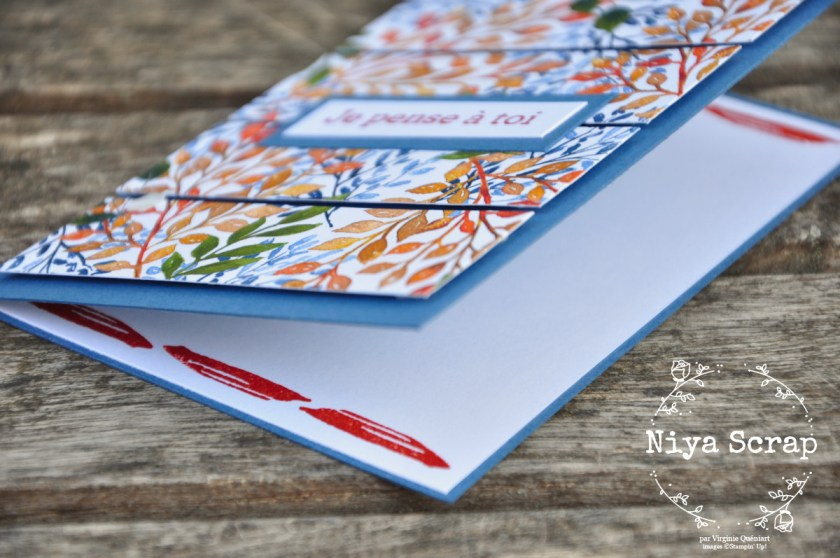 "Niya Scrap - Carte ""Je pense à toi"" #SimpleStamping - Matériel Stampin' Up!"
