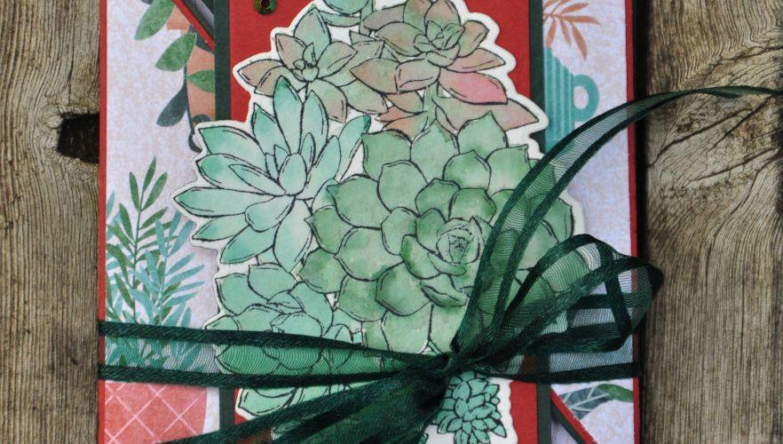 Niya Scrap - Carte 6 volets - Qui Scrappe me suive Septembre 2021 - Matériel Stampin' Up!