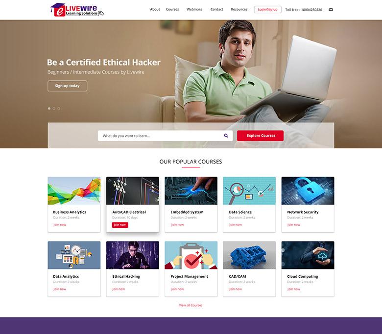 educational website design india
