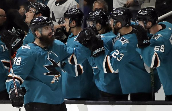 The San Jose Sharks host the Vegas Golden Knights in game two of their 2019 Stanley Cup Playoffs first round series on Friday night. (AP Photo | Ben Margot)