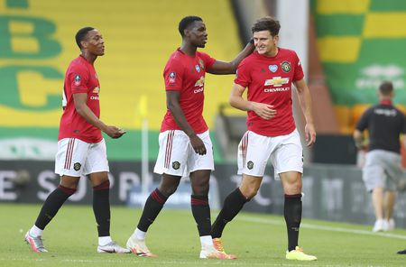 Winning goalscorer Manchester United's Harry Maguire.