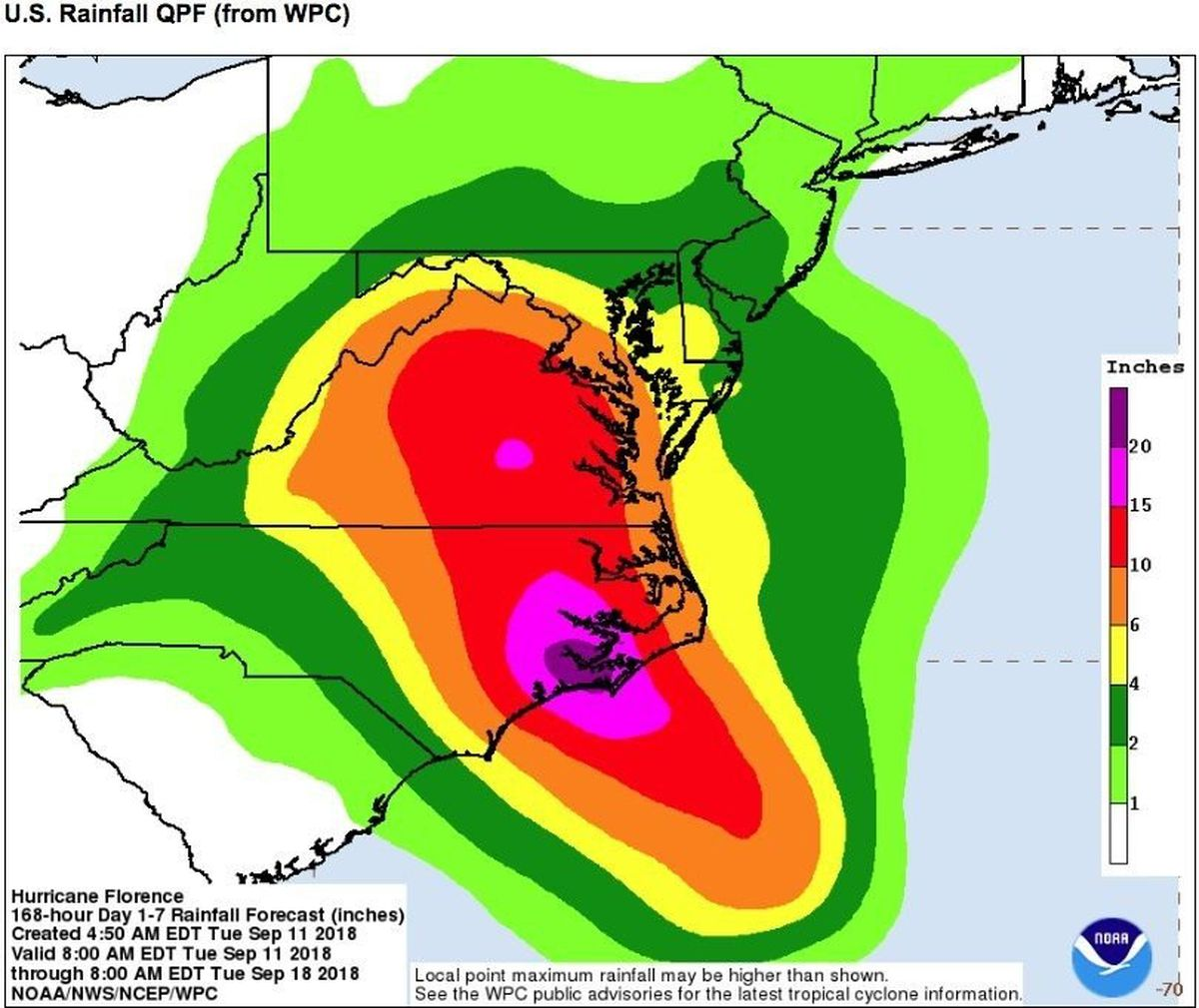 hight resolution of is hurricane florence going to hit n j why it s still going to be miserable even if it misses nj com