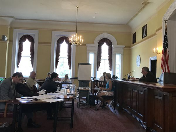 An administrative hearing for a Salem County Corrections Officer accused of using racist terminology was held Wednesday at the Old Salem County Courthouse.