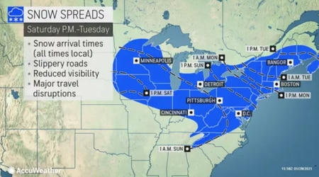 NJ Weather: Time Track Forecast of Snow, Snowfall, Winter Storm