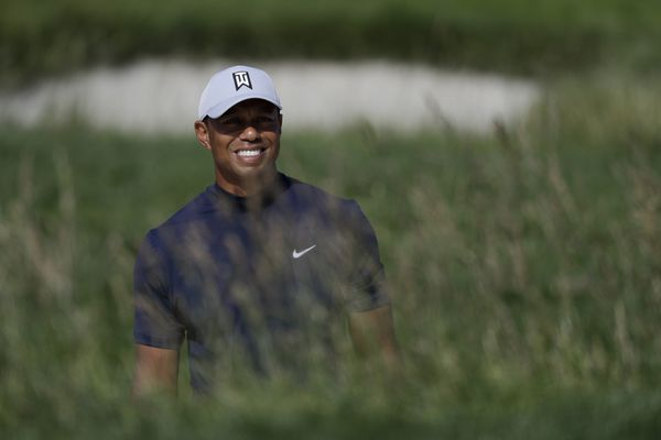 tiger woods tee time 2nd round masters