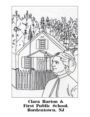 Clara Barton Coloring Page Coloring Pages