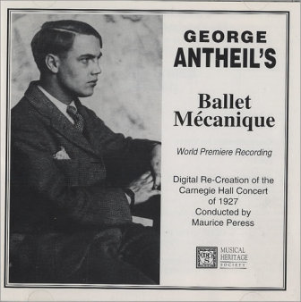 """The cover of a 1927 recording of George Antheil's """"Ballet Mecanique."""""""