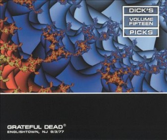 """The cover of the 15th installment in the Grateful Dead's """"Dick's Picks"""" series of concert recordings, documenting their Sept. 3, 1977 show at Raceway Park in Englishtown."""