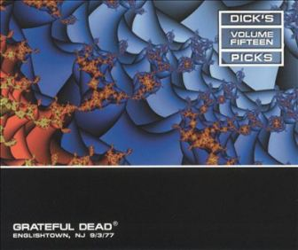 "The cover of the 15th installment in the Grateful Dead's ""Dick's Picks"" series of concert recordings, documenting their Sept. 3, 1977 show at Raceway Park in Englishtown."