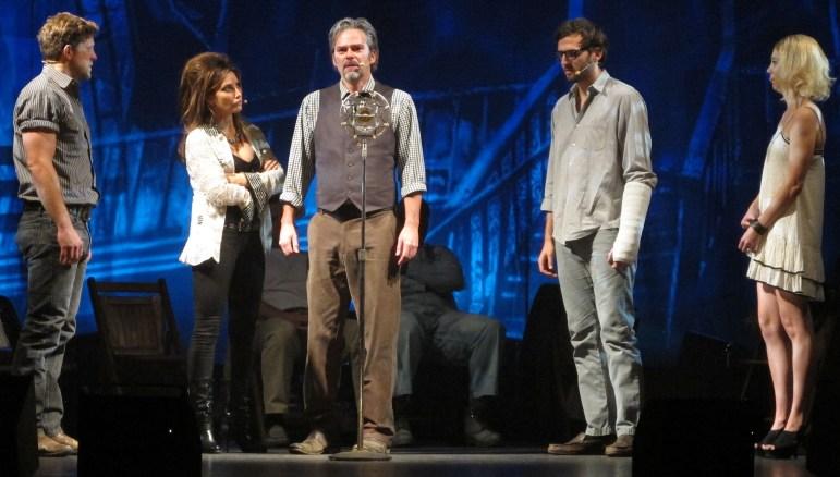 From left, Joe Tippett, Gina Gershon, Billy Burke, Lucas Kavner and Kylie Brown.