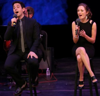 """Santino Fontana and Laura Osnes on the NJTV series, """"American Songbook at NJPAC."""""""