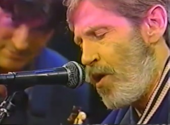 "Rick Danko and Levon Helm of The Band, performing ""Atlantic City,"" in 1993."