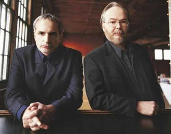 Steely Dan (Donald Fagen, left, and Walter Becker) is teaming up with Elvis Costello for a summer tour.
