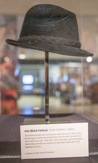 "One of Sinatra's fedoras, from the 1960s, is part of ""Sinatra: An American Icon."""