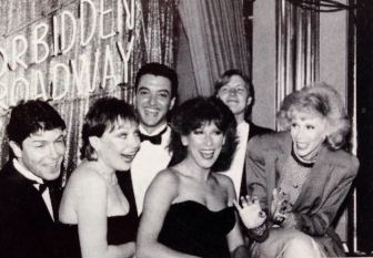 Producer John Freedson, center, with Joan Rivers, far right, and others, in the late '80s.