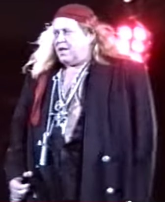 Sam Kinison at Giants Stadium in 1989.
