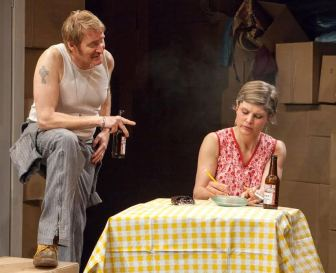 """Bart Shatto and Heather Benton play the parents of Ozone Park, N.Y. teenagers in 1977, in """"Tar Beach."""""""