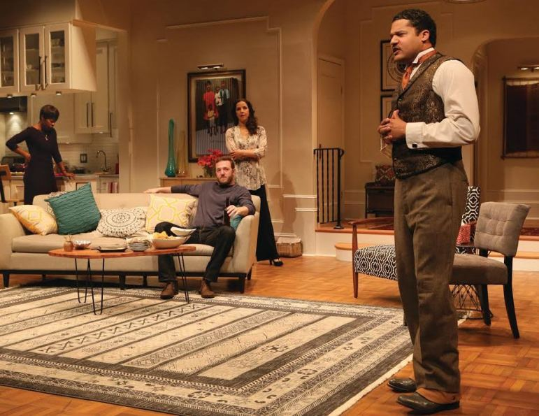 """From left, Roslyn Ruff, Andrew Hovelson, Merritt Janson and Brandon J. Dirden co-star in """"Your Blues Ain't Sweet Like Mine"""" at Two River Theater."""
