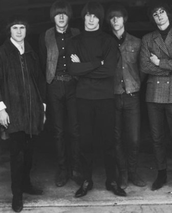 The Byrds in a 1965 publicity shot (from left, David Crosby, Michael Clarke, Gene Clark, Chris Hillman and Roger McGuinn).