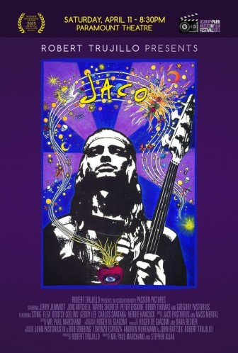 """A poster for the movie """"Jaco,"""" which screened in Asbury Park on Saturday."""