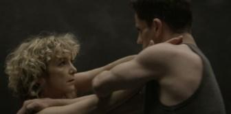 """Heidi Latsky and Jeffrey Freeze in """"Soliloquy."""""""