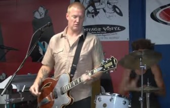 Josh Homme of Queens of the Stone Age performs at Vintage Vinyl in Fords in June 2013.