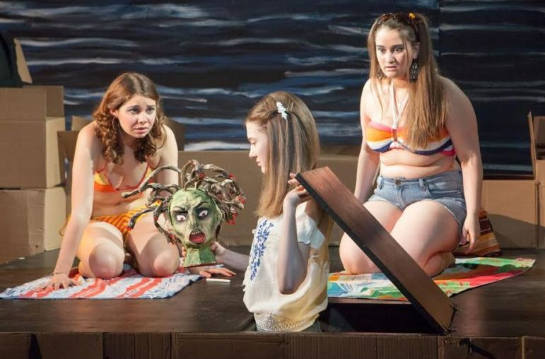 """From left, Emily Verla, Emmanuelle Nadeau and Alanna Monte co-star in """"Tar Beach,"""" which is at Luna Stage in West Orange through May 9."""